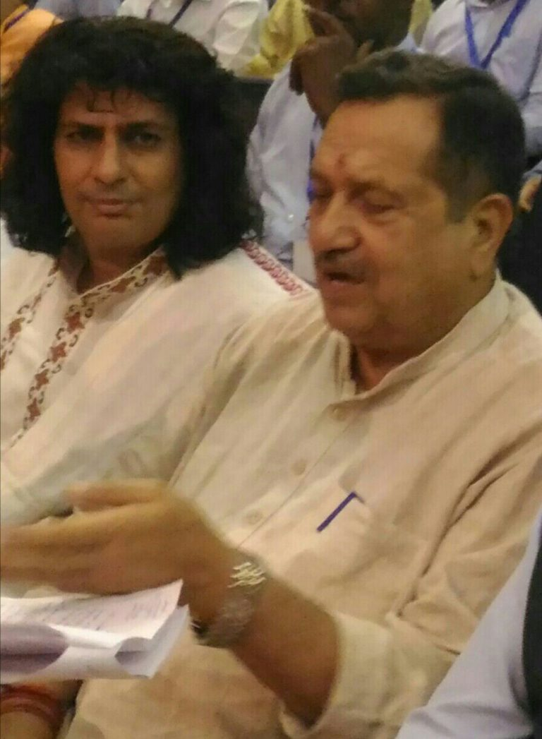 At JNU, New Delhi with Shri. Indresh Kumar