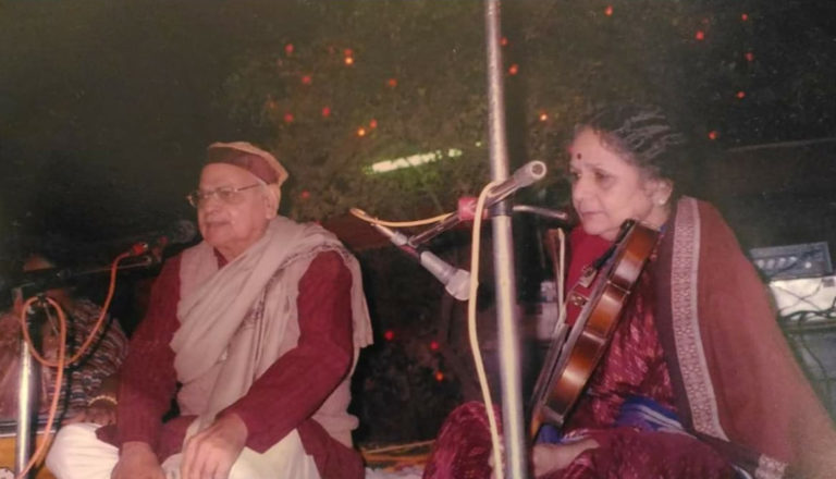 Vidushi Smt. Sudha Mathur & Pt. Sarvesh Chandra Mathur, the first & second Guru, respectively of Maestro Somesh Mathur...